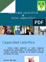Calor Especifico y Capacidad Calorific A