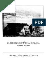 Repoblación Andalucía [Gonzalez Jimenez]