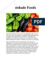 Nightshade Foods