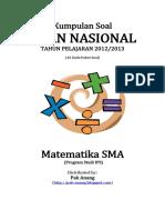 Naskah Soal UN Matematika SMA IPS 2013 (43 Paket Soal) Pak-Anang.blogspot.com