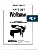 Wellsaw No. 8 Parts List
