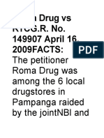 Roma Drug vs RTCG