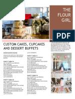 Dessert Buffet Packages 2015