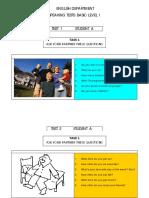 Speaking Materiales Basic 1