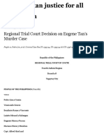Regional Trial Court Decision on Eugene Tan's Murder Case | eugene a. tan justice for all foundation