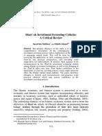 2014- Shari'a Investment Screening Criteria a Critical Review