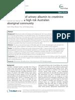The Correlates of Urinary Albumin to Creatinine