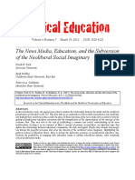 The News Media, Education