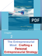 2) The Entrepreneurial Mind  Crafting a Personal Entrepreneurial Strategy.ppt