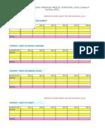 Master Score Sheet