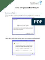 Solução de Problemas de Registro - MM10