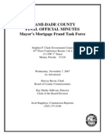 Miami Dade County Mortgage Fraud Task Force Minutes November 7 2007