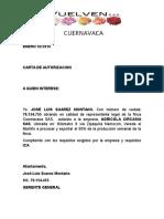 Cartas de Autorizacion Proceso Flor Fincas