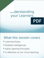Understanding Your Learners