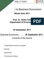 Business Economics Intro