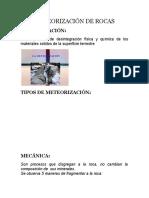 Meteorización de Rocas geologia