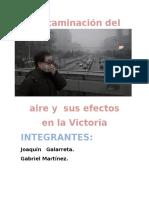 Contaminacion econtaminacion en la victoria proyecton La Victoria Proyecto