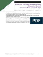 Algebra 2 Paper PBA Practice Rubric