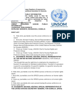 UN Report says freedom of expression critical for ongoing political transition in Somalia