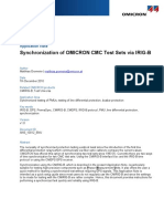 Synchronization of OMICRON CMC Test Sets via IRIG-B
