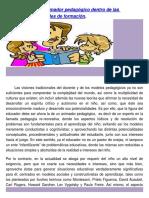 El Docente Como Animador Pedagógico Dentro de Las Situaciones Vivenciales de Formación