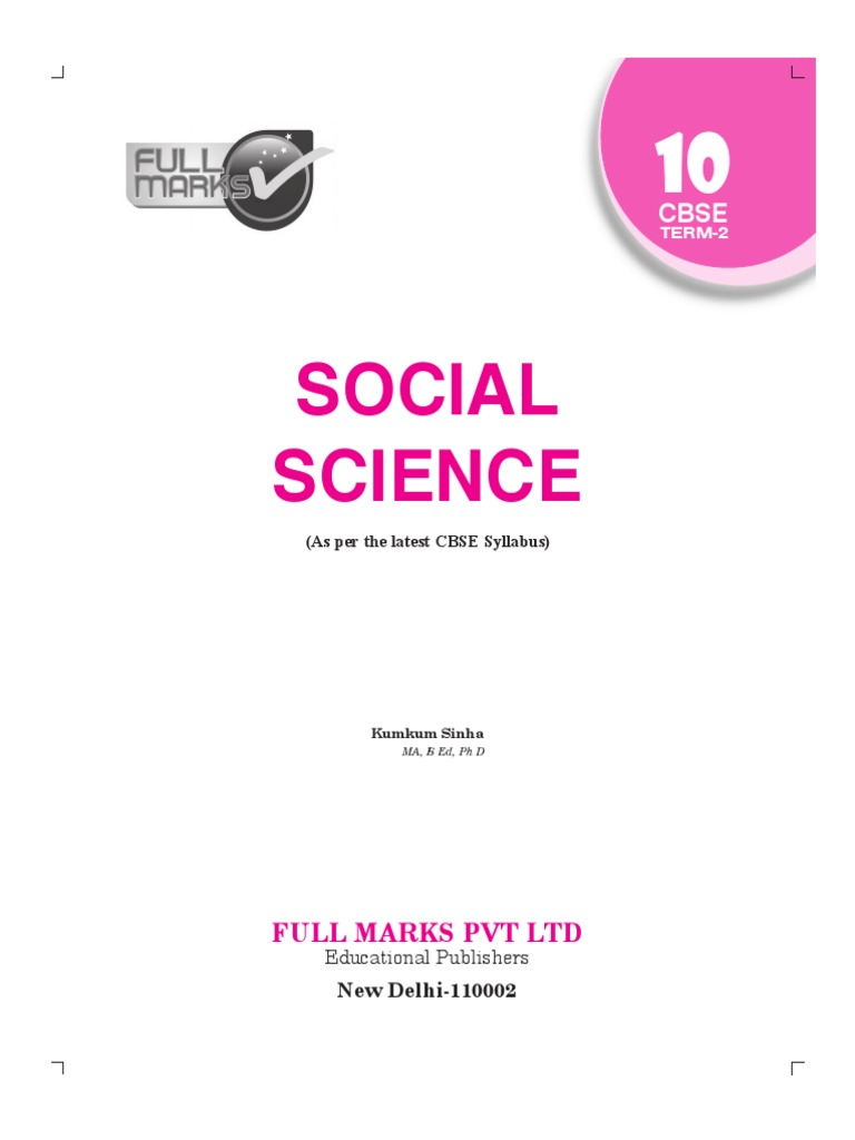 evergreen self study social science class 10 pdf