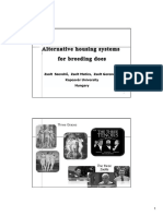 Alternative Housing Systems For Breeding Does