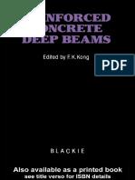 01-Book-Kong F. K., Reinforced Concrete Deep Beams, 1990