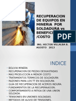 Recuperacion de Equipos Por Soldadura vs Benef Costo. Format