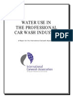 Water Use in the Professional Car Wash Industry