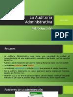 1 Introducción Auditoría Administrativa