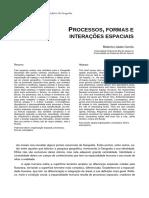 Processos, Formas e Interações Espaciais Lobato Correa