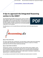 6 Tips to Approach the IR in the GMAT