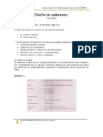 Diseño de Examenes 1ra. Parte