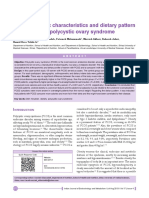 Anthropometric Characteristics and Dietary Pattern of Women With Polycystic Ovary Syndrome