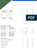 Rodamientos de Dos Hileras Completamente Llenos de Rodillos Cilíndricos - NNCF 4930 CV