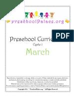 March 2012 Preschool Curriculum