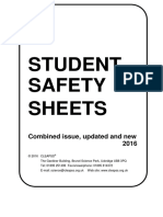 Student Safety Sheets