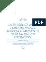 Sarmiento y Alberdi