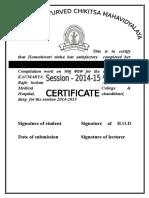 Certificate o