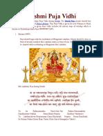 Lakshmi Puja Vidhi