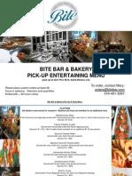 In-Store Pick-Up Platter Menu - Bite Bar & Bakery