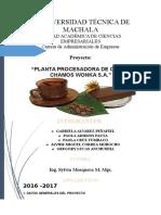 Proyecto de La Planta Procesadora de Cacao Chamos Wonka s.a...Pao