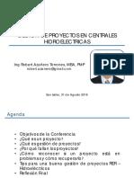 Conferencia PMI CIP GP Centrales Hidroeléctricas 31 08 2016