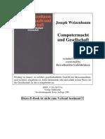 Joseph Weizenbaum - Computermacht und Gesellschaft (2001)