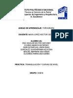 TRIANGULACIÓN Y CURVAS DE NIVEL