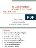 Seismic Rehabilitation of Foundations for Buildings and Bridges