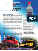 15W-40 Gas and Diesel Motor Oil Data Bulletin