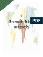 Reservas a Los Tratados Internacionales