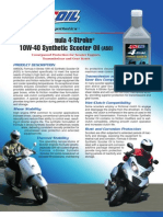 Formula 4-Stroke® Synthetic Scooter Oil Data Bulletin